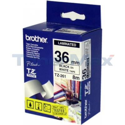 BROTHER P-TOUCH TAPE BLACK/WHITE (1.5 X 5)